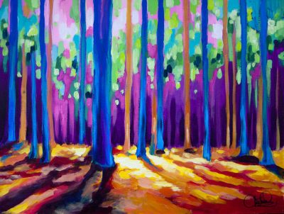 painting-forest-vibrant-colors-impressionistic