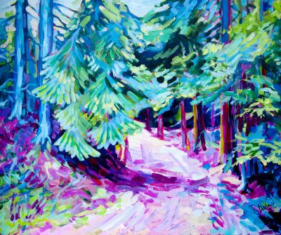 painting-canvas-forest-impressionism-trees-path